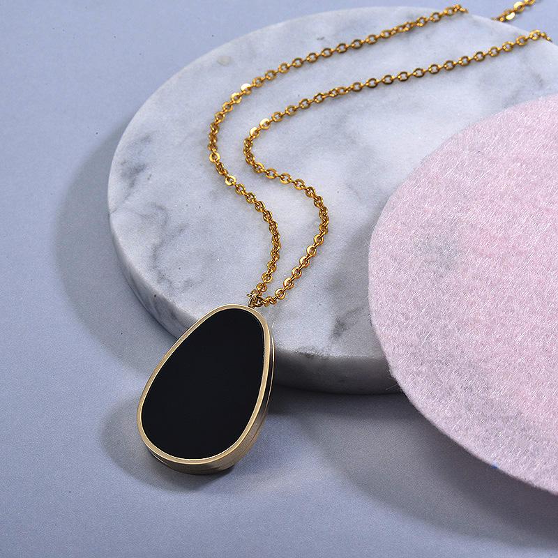 Collares de Acero Inoxidable para Mujer -SSNEG129-30031