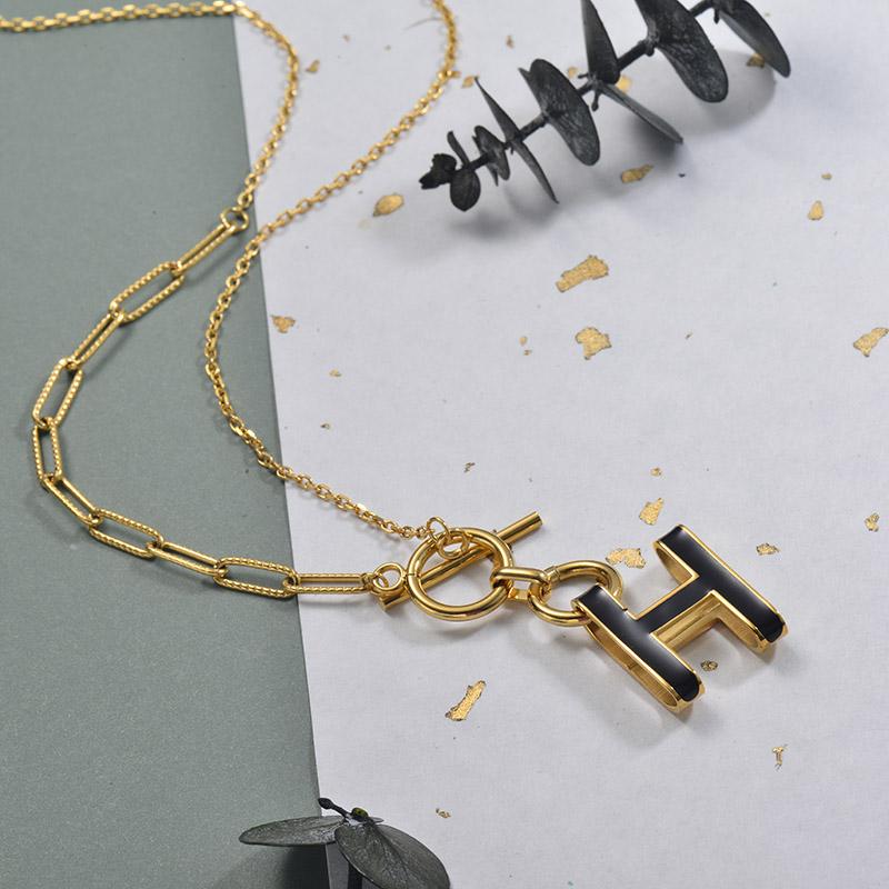 Collares de Acero Inoxidable para Mujer -SSNEG157-30010