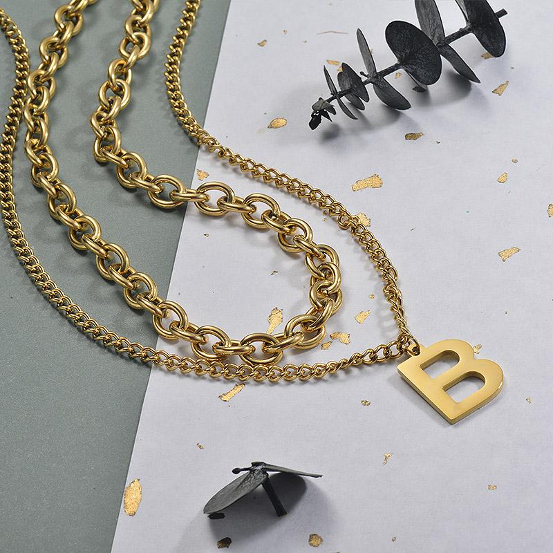 Collares de Acero Inoxidable para Mujer -SSNEG157-30006