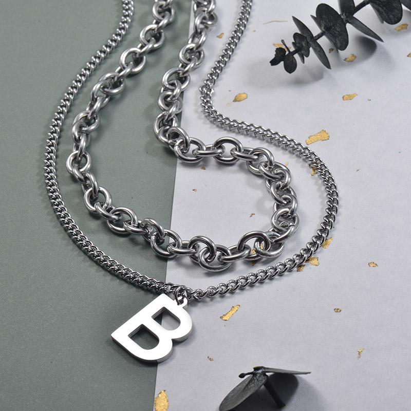 Collares de Acero Inoxidable para Mujer -SSNEG157-30007