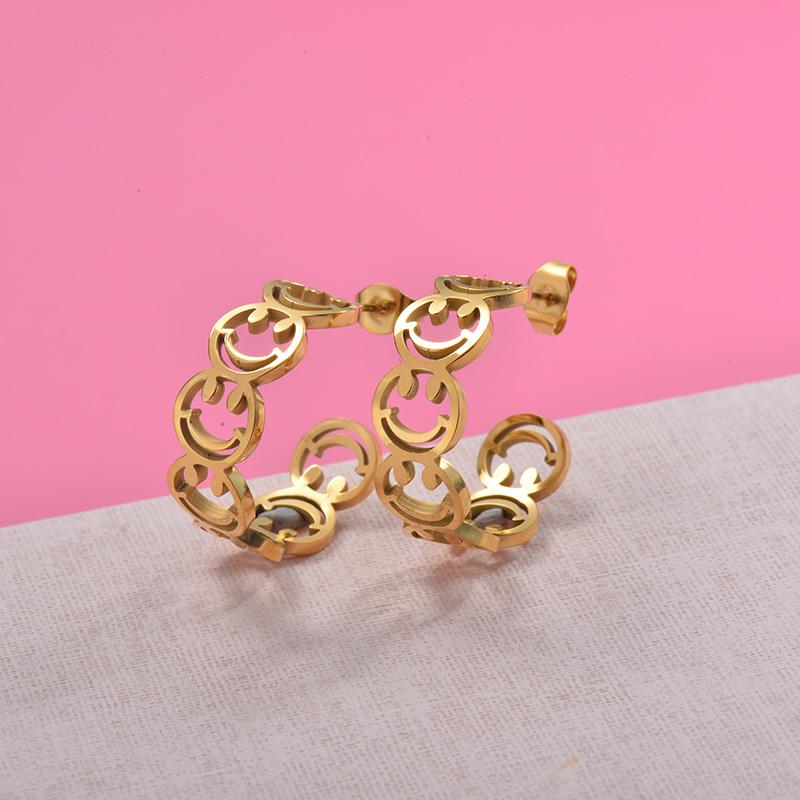 Zarcillos de Acero Inoxidable para Mujer -SSEGG157-29982