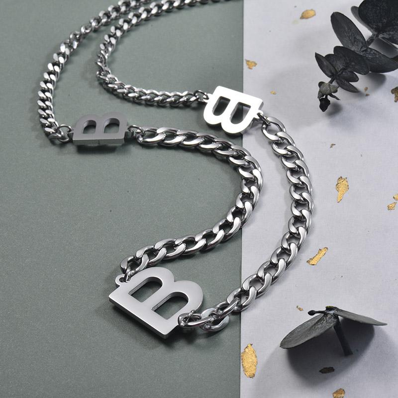 Collares de Acero Inoxidable para Mujer -SSNEG157-30002