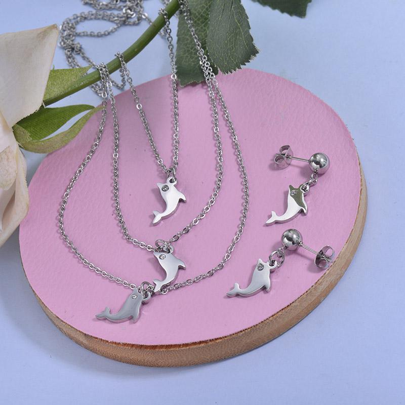 Conjunto de acero inoxidable para Mujer -SSCSG18-29783