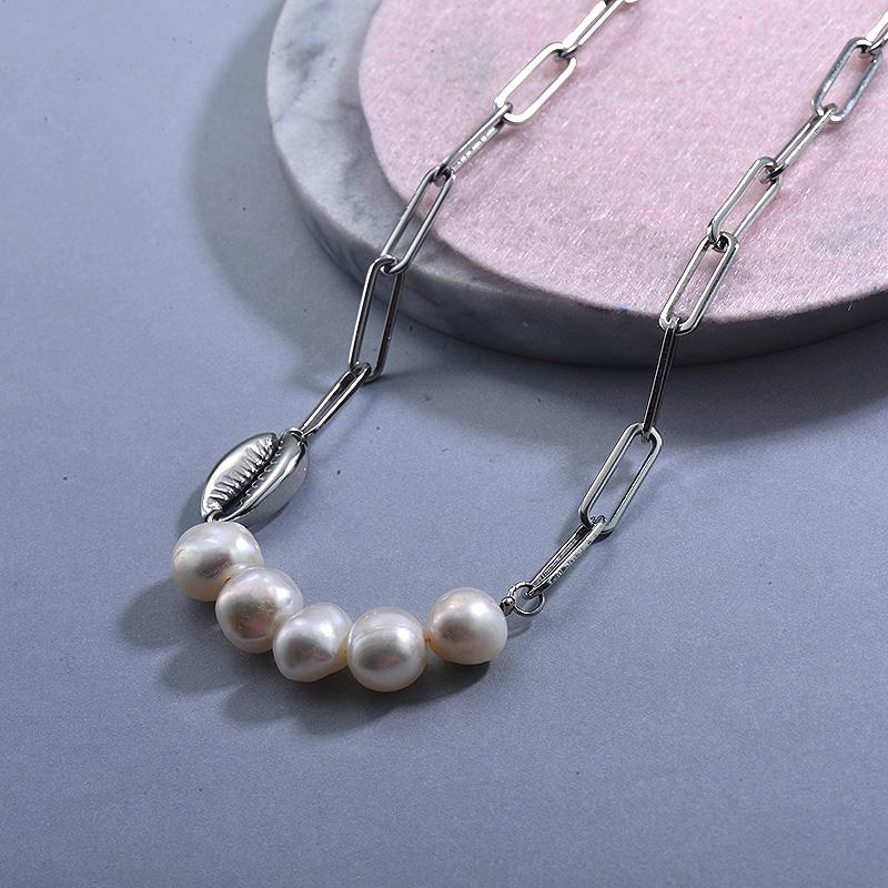 Collares de Acero Inoxidable para Mujer -SSNEG129-30028