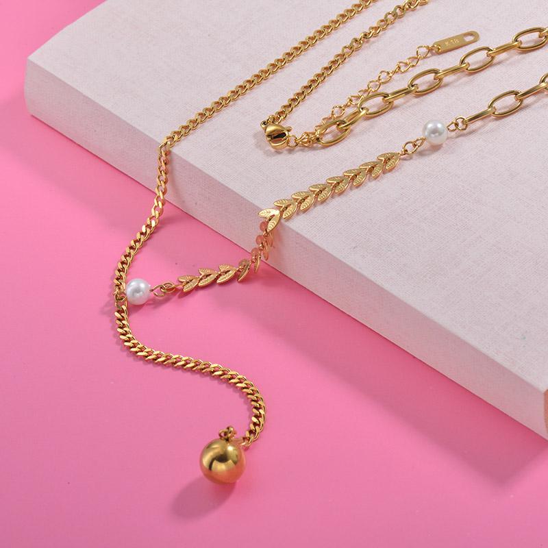 Collares de Acero Inoxidable para Mujer -SSNEG157-29995