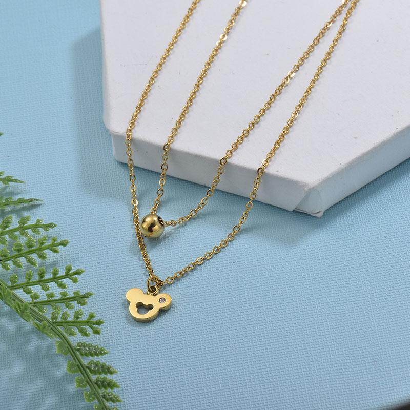 Collares de Acero Inoxidable para Mujer -SSNEG18-29733