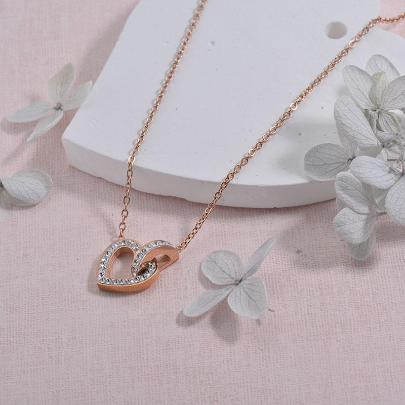 Collares de Acero inoxidable para Mujer -SSNEG157-29928