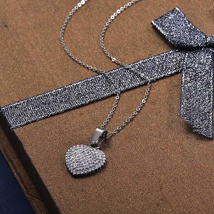 Collares de Acero Inoxidable para Mujer -SSNEG129-30033