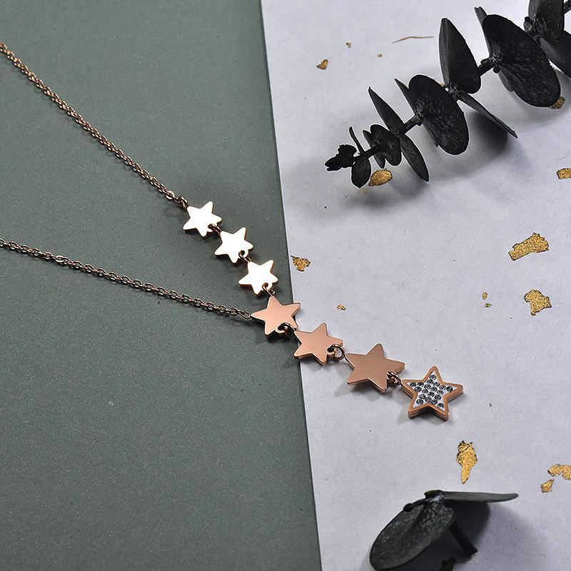 Collares de Acero Inoxidable para Mujer -SSNEG157-30000