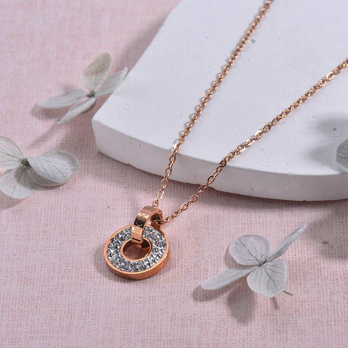 Collares de Acero inoxidable para Mujer -SSNEG157-29931