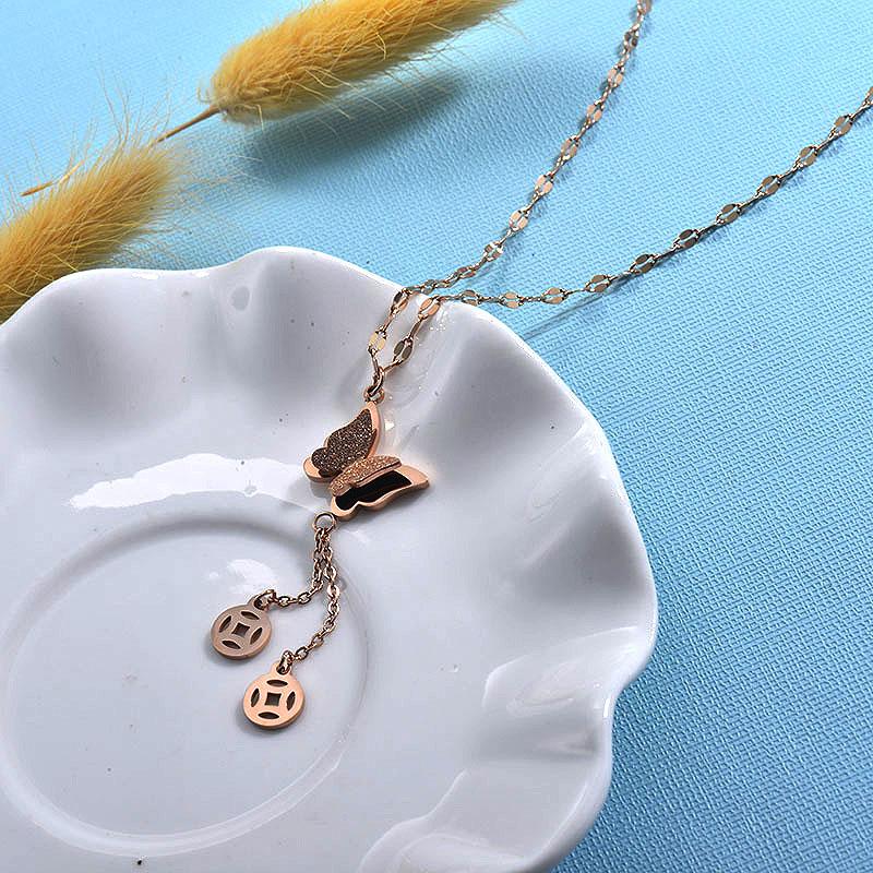 Collares de Acero Inoxidable para Mujer -SSNEG157-30012