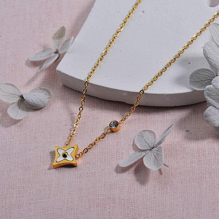 Collares de Acero inoxidable para Mujer -SSNEG157-29933