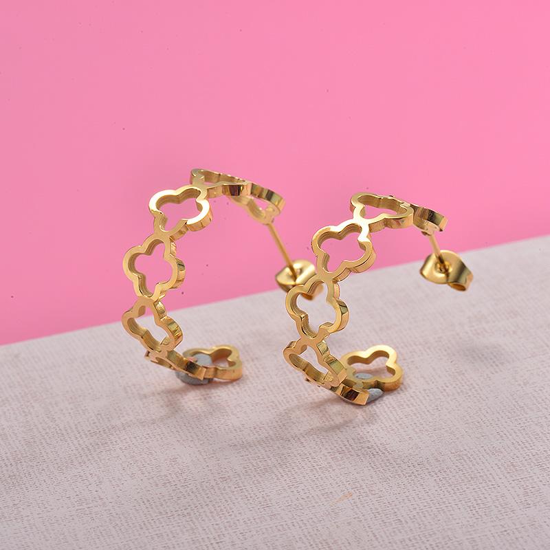 Zarcillos de Acero Inoxidable para Mujer -SSEGG157-29981