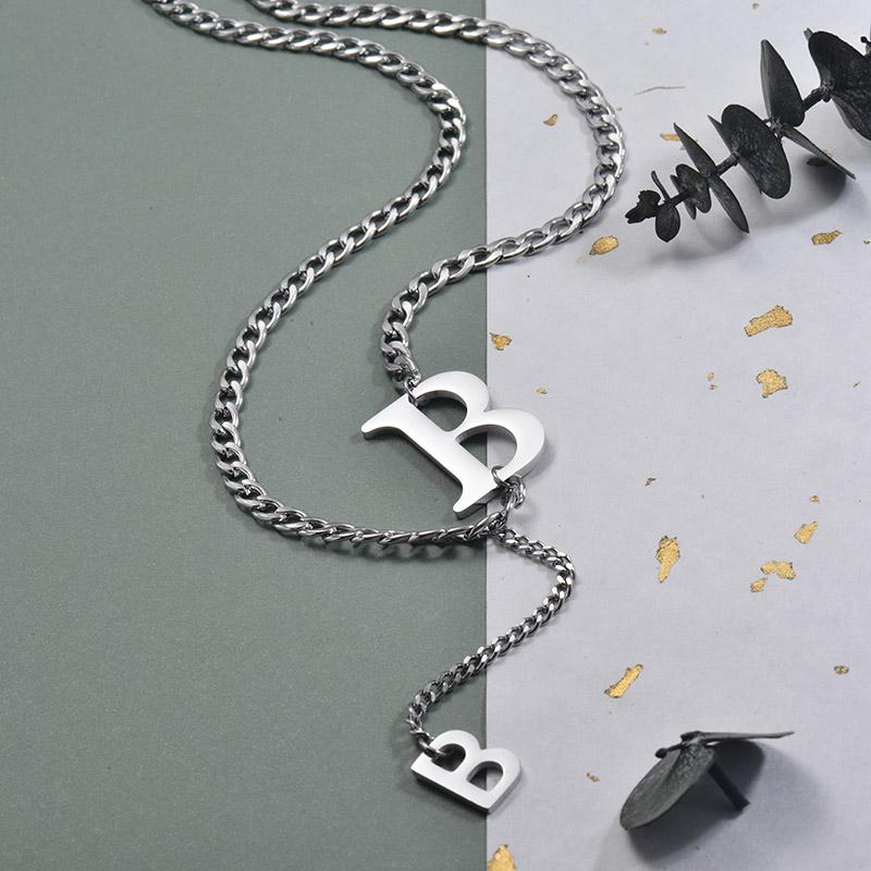Collares de Acero Inoxidable para Mujer -SSNEG157-30009