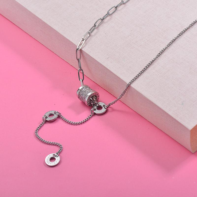 Collares de Acero Inoxidable para Mujer -SSNEG157-29998