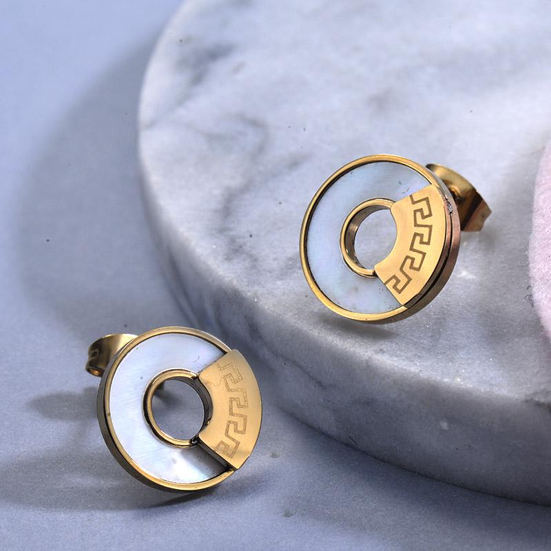 Aretes de Acero Inoxidable para Mujer -SSEGG129-30035