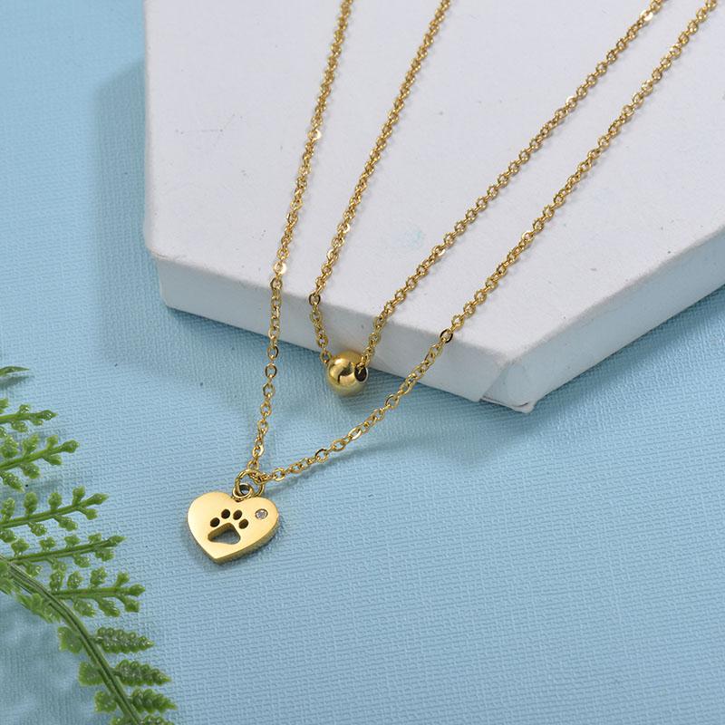 Collares de Acero Inoxidable para Mujer -SSNEG18-29735