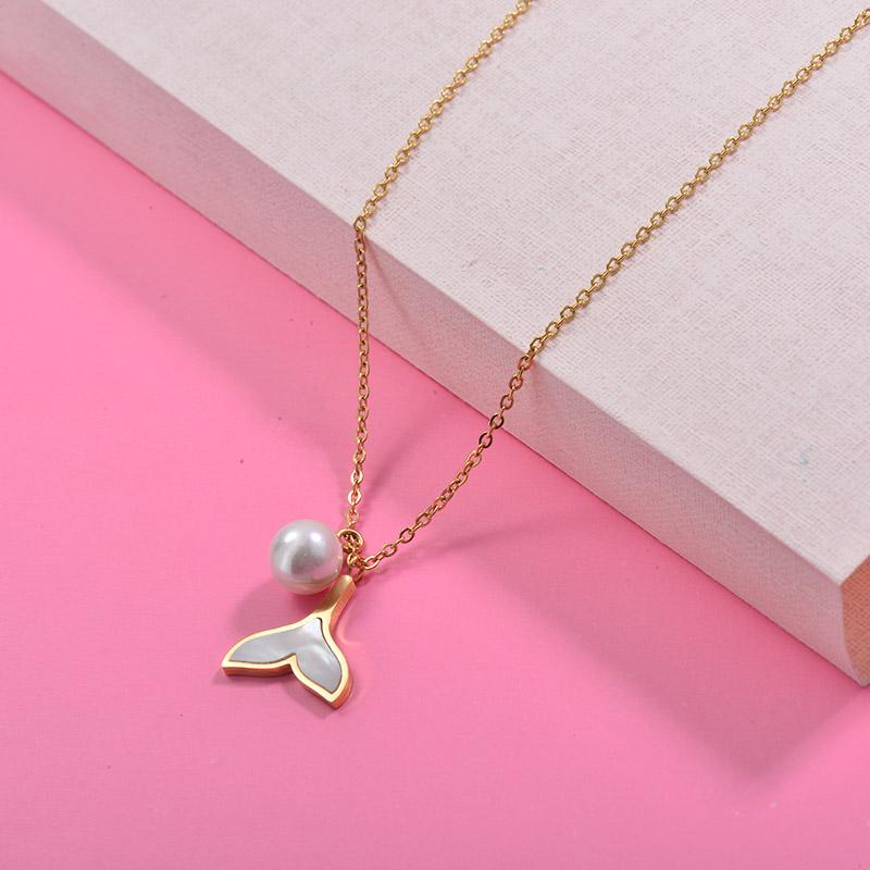 Collares de Acero Inoxidable para Mujer -SSNEG157-29999