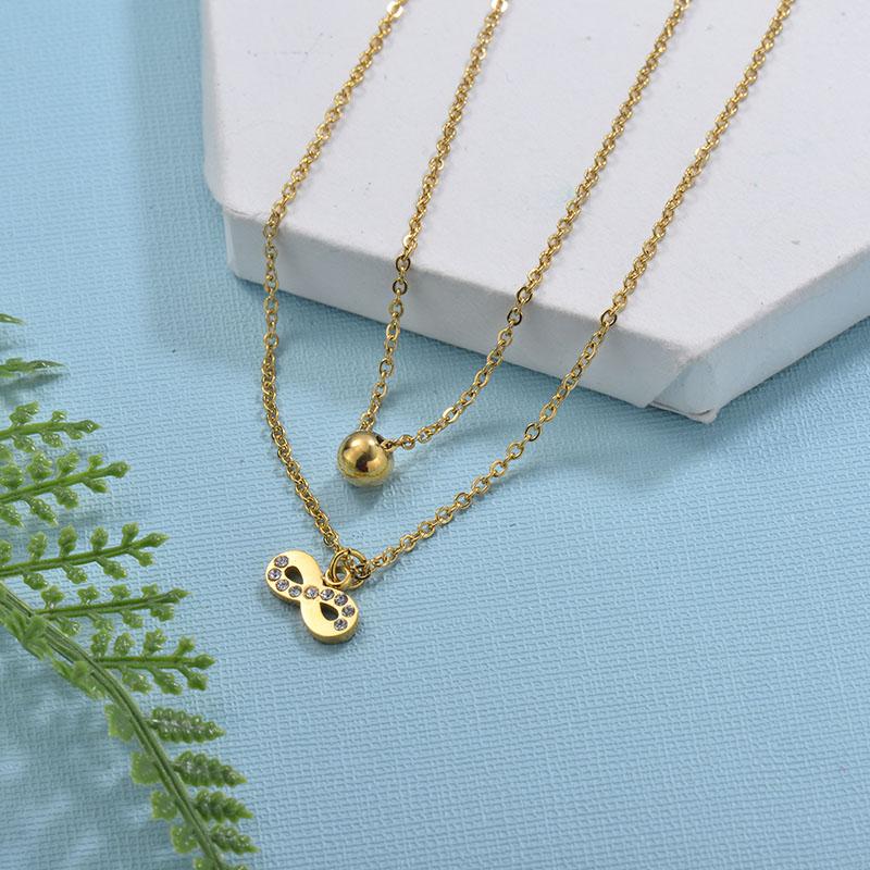 Collares de Acero Inoxidable para Mujer -SSNEG18-29732