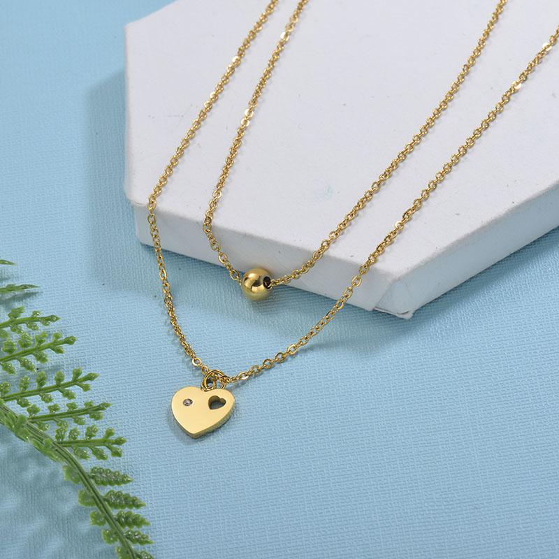 Collares de Acero Inoxidable para Mujer -SSNEG18-29736