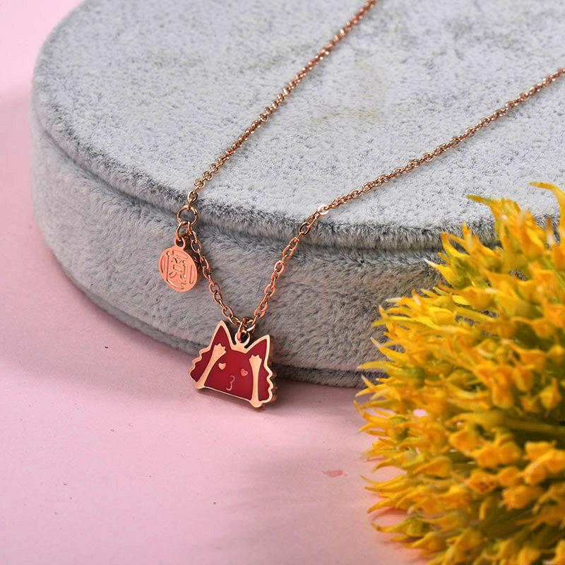 Collares de Acero inoxidable para Mujer -SSNEG157-29882
