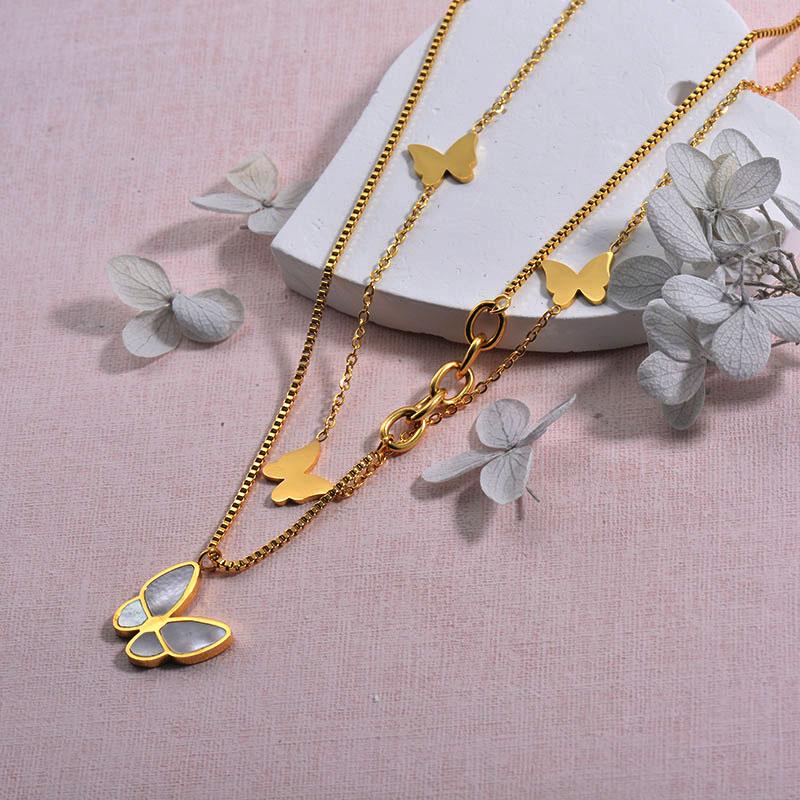 Collares de Acero inoxidable para Mujer -SSNEG157-29934