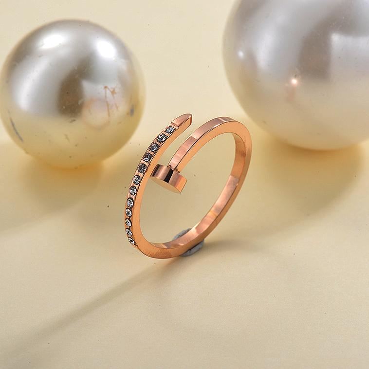 Anillos de Acero inoxidable para Mujer -SSRGG157-29849