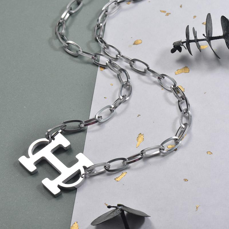 Collares de Acero Inoxidable para Mujer -SSNEG157-30003