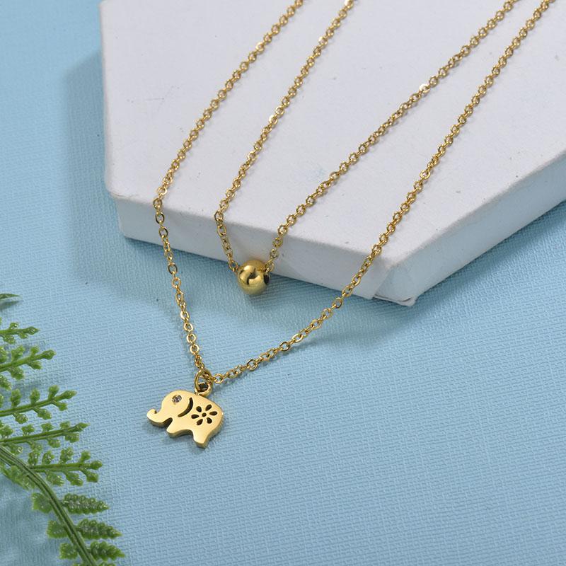 Collares de Acero Inoxidable para Mujer -SSNEG18-29734