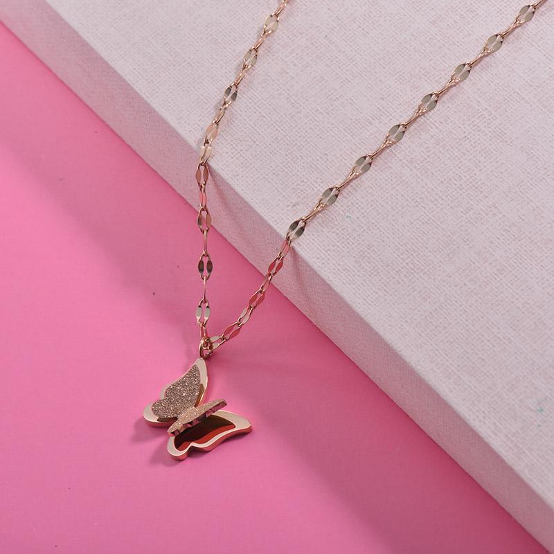 Collares de Acero Inoxidable para Mujer -SSNEG157-29992