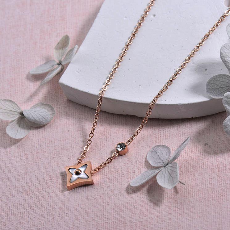 Collares de Acero inoxidable para Mujer -SSNEG157-29932