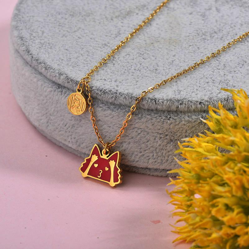 Collares de Acero inoxidable para Mujer -SSNEG157-29881