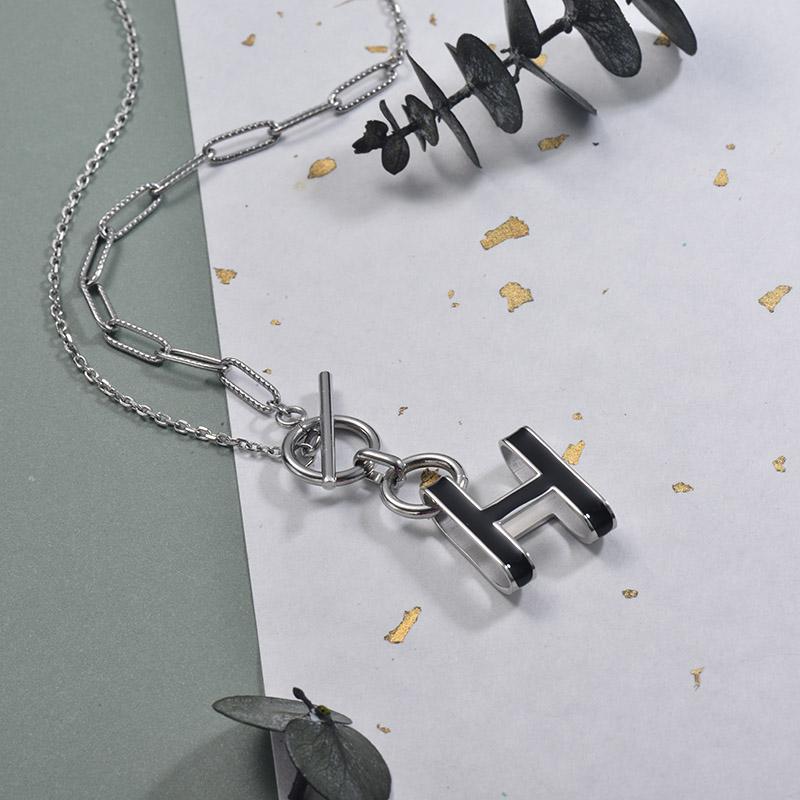 Collares de Acero Inoxidable para Mujer -SSNEG157-30011