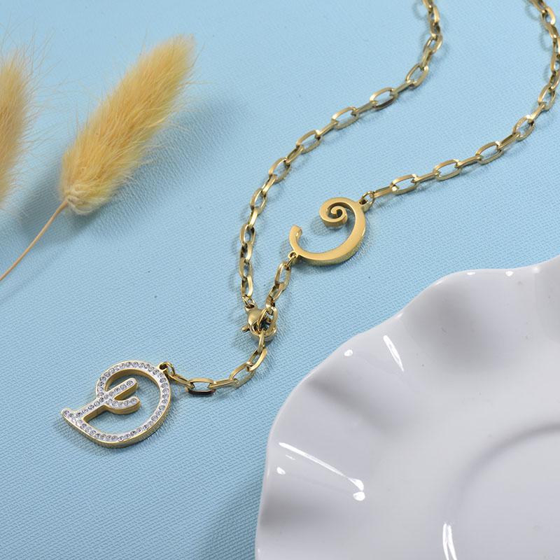 Collares de Acero Inoxidable para Mujer -SSNEG157-30013