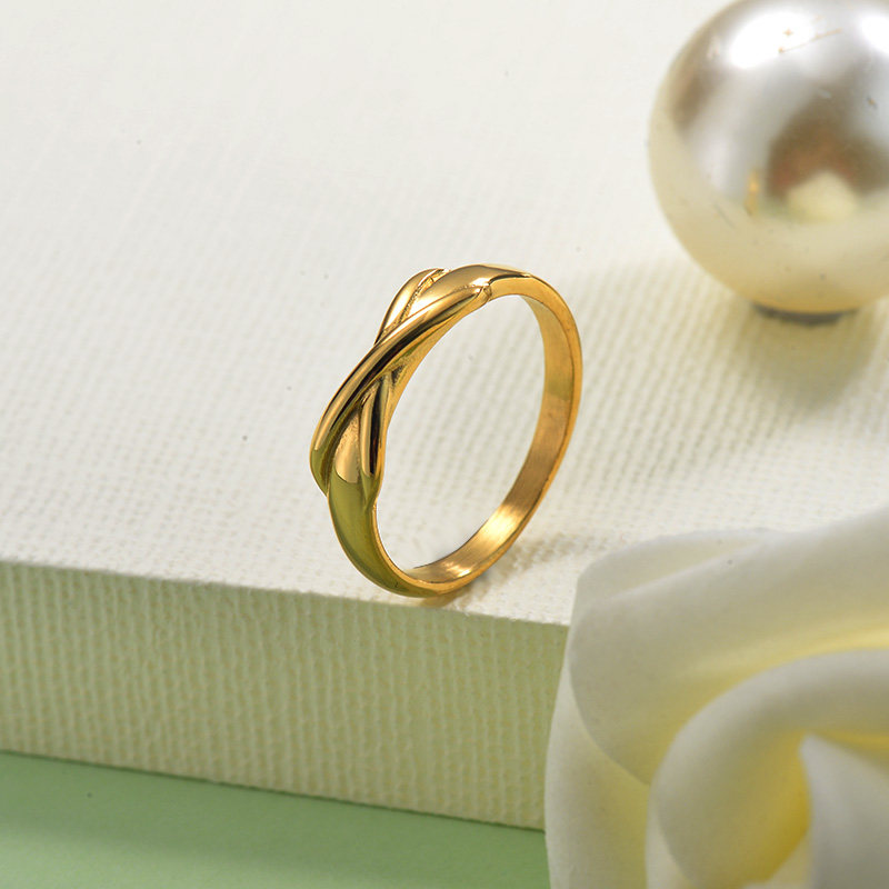 18K Gold Plated Wholesale Infinity Ring for Ladies