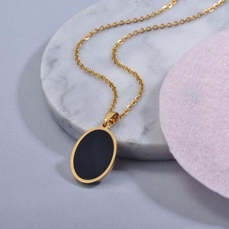 Collares de Acero Inoxidable para Mujer -SSNEG129-30032