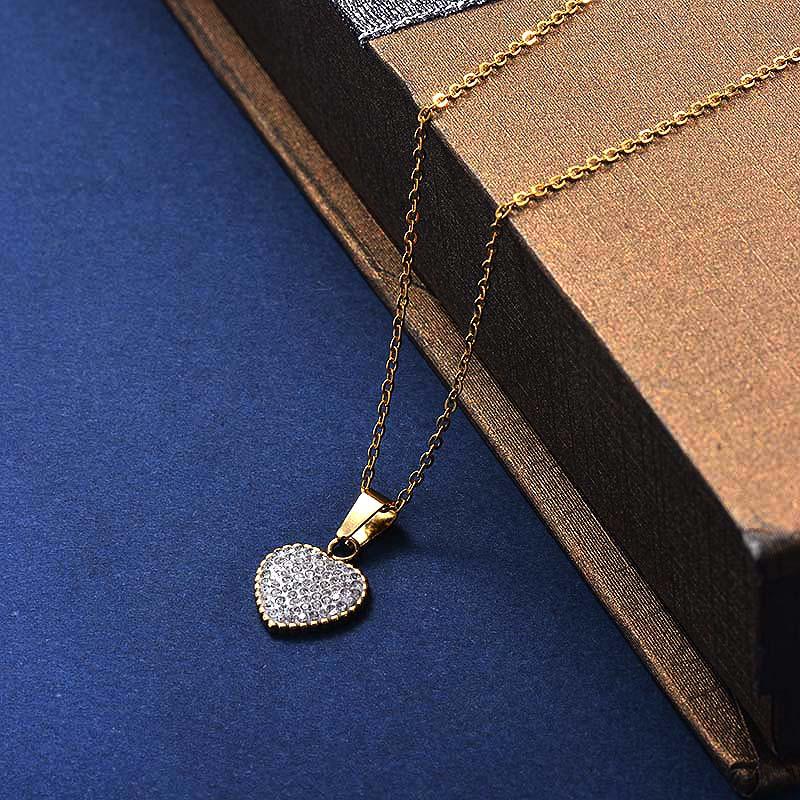 Collares de Acero Inoxidable para Mujer -SSNEG129-30034