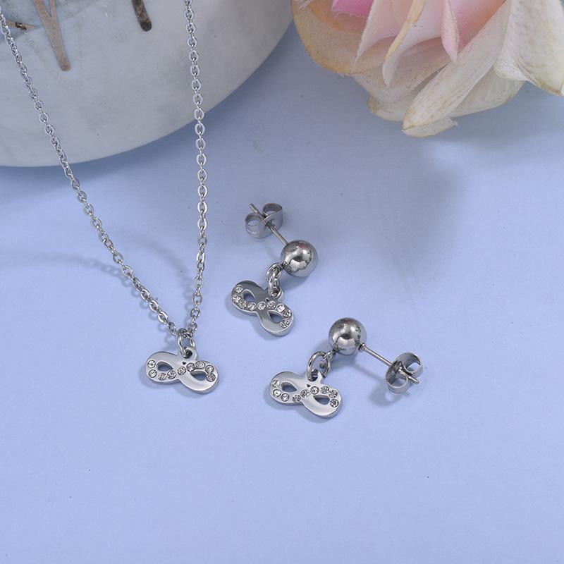 Conjunto de acero inoxidable para Mujer -SSCSG18-29761