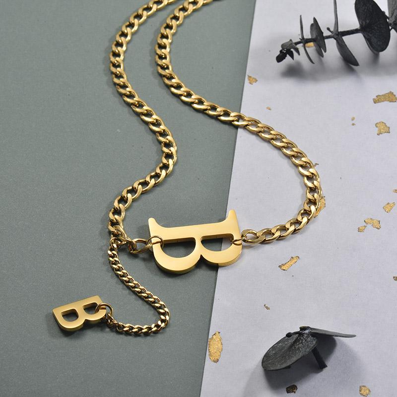 Collares de Acero Inoxidable para Mujer -SSNEG157-30005