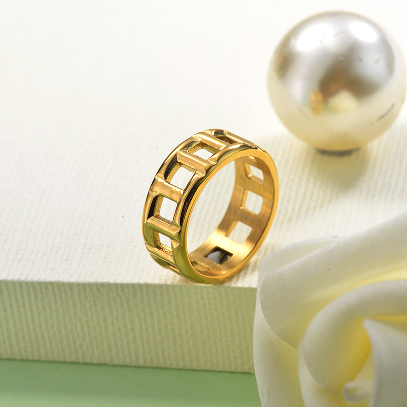 Stainless Steel Gold Plated Ring for Women