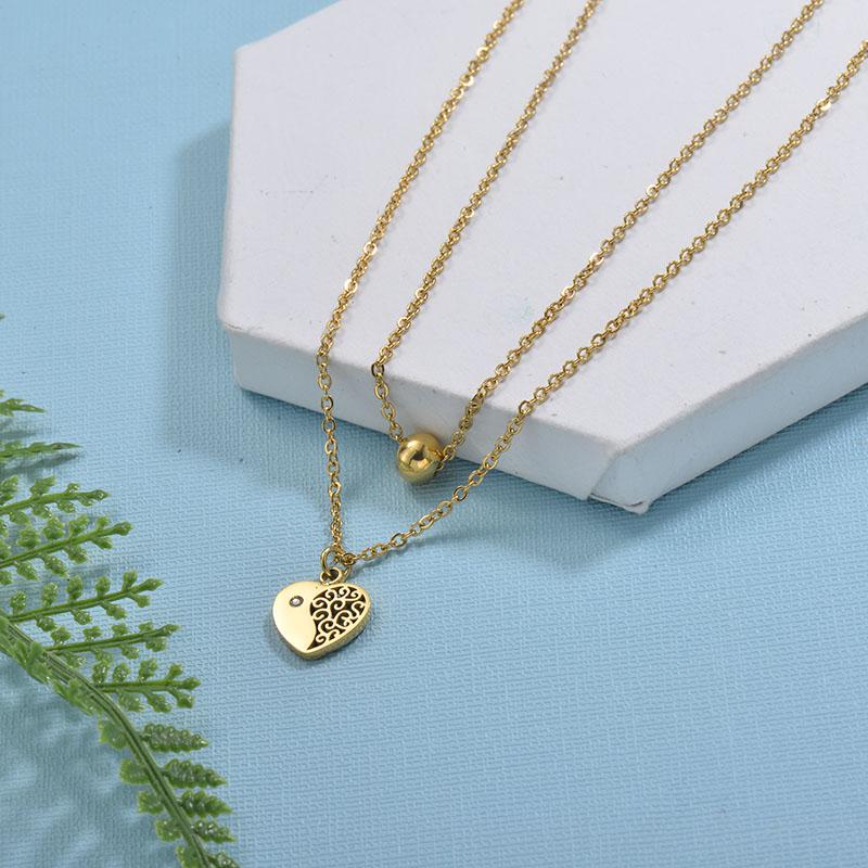 Collares de Acero Inoxidable para Mujer -SSNEG18-29737