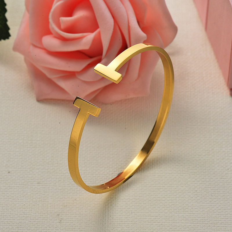 Stainless Steel T Bangle