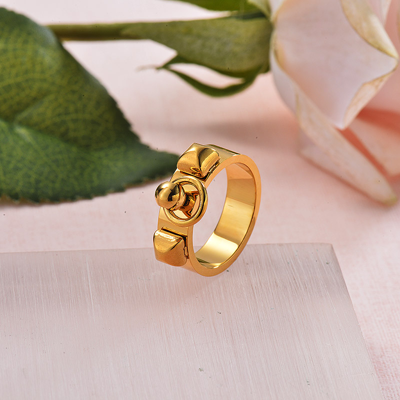 French Style Minimalist 18k Gold Plated Ring