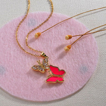 Collares de Oro 18k en Cobre -BRNEG154-30132