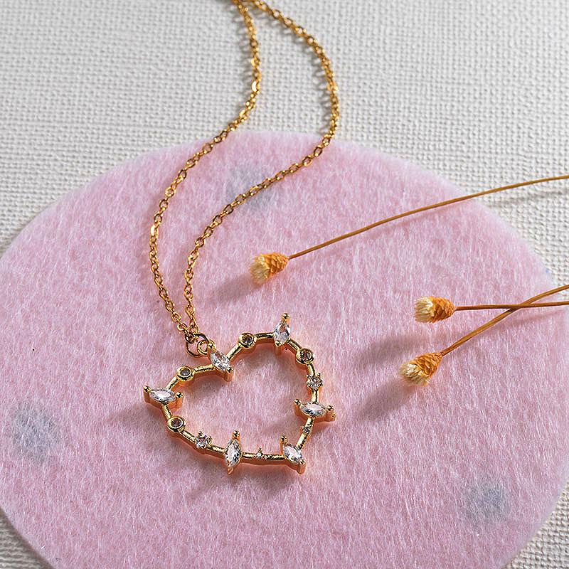 Collares de Oro 18k en Cobre -BRNEG154-30139