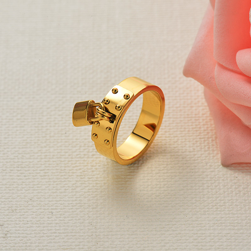 Lock Minimalist 18k Gold Plated Ring