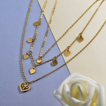 Multi Layer Heart Necklace for Women