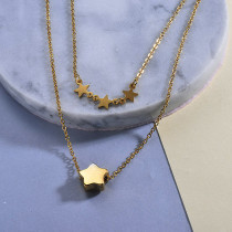 Star Layered Necklace for Girls
