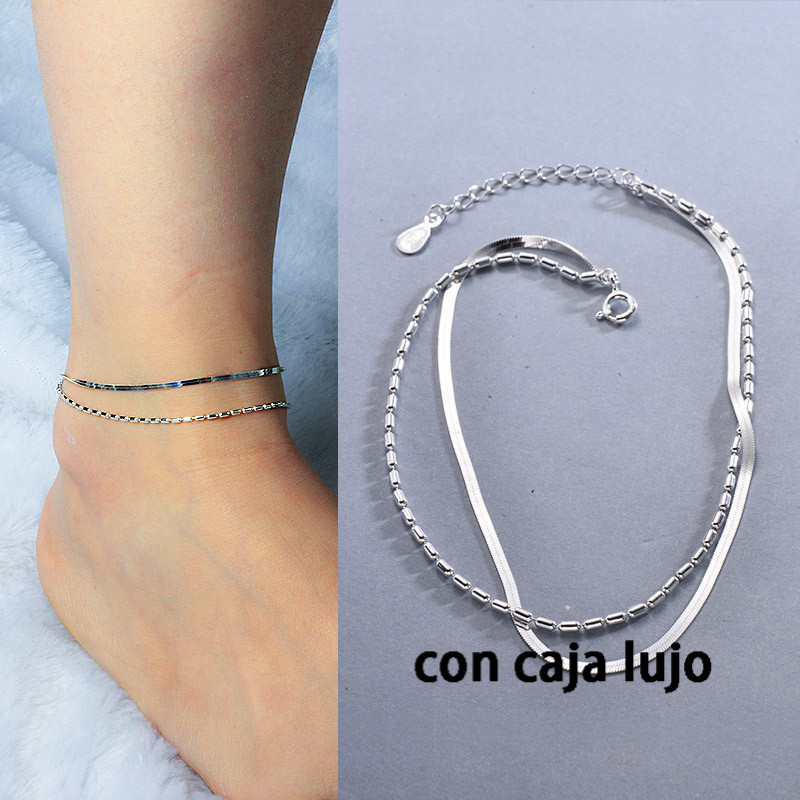 925 Sterling Silver Anklets for Women