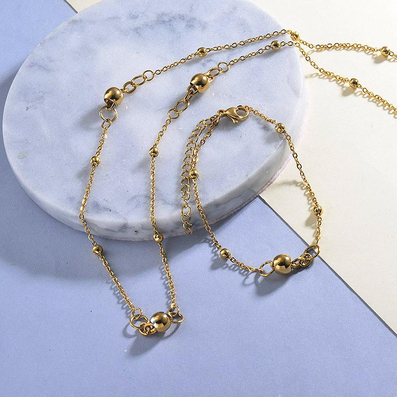 Beaded Necklace Bracelets Jewelry Sets
